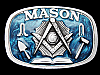 MF27108 VINTAGE 1986 MASON SQUARE AND COMPASSES BELT BUCKLE