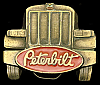 MF28144 AWESOME VINTAGE 1987 ***PETERBILT TRUCKS*** LOGO LONGNOSE TRUCKER BUCKLE