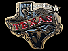 MG01153 VINTAGE 1980 TEXAS LONE STAR STATE SOUVENIR BELT BUCKLE