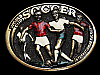 MG01162 VINTAGE 1982 *WORLD CUP SOCCER INTERNATIONAL KICKER* SPORTS BELT BUCKLE