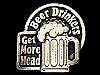 MG03104 VINTAGE 1980 BEER DRINKERS GET MORE HEAD BELT BUCKLE
