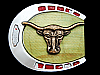 MG07169 VINTAGE 1970s CATTLE HEAD HORSESHOE SHAPED BELT BUCKLE