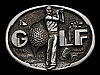 MG11102 REALLY NICE VINTAGE 1983 GOLF COMMEMORATIVE SPORTS BELT BUCKLE