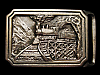 MG27129 VINTAGE 1975 TECH-ETHER GUILD **TE EXPRESS** TRAIN SOLID BRASS  BUCKLE