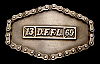 MG20131 VINTAGE 1976 ***D.F.F.L. 13 69*** DOPE FOREVER LOADED MOTORCYCLE BUCKLE