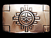 MH07132 VINTAGE 1970s SOUTHWESTERN DESIGN ART/FASHION BELT BUCKLE