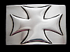 MH09155 **NOS** VERY COOL 2005 **IRON CROSS** FASHION BELT BUCKLE