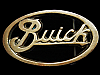 MH23159 VINTAGE 1970s CUT-OUT **BUICK** LOGO SOLID BRASS CAR BELT BUCKLE