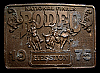 MG30107 USED NFR ***1975 NATIONAL FINALS RODEO*** HESSTON COLLECTOR BUCKLE