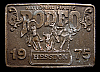 MG30108 USED NFR ***1975 NATIONAL FINALS RODEO*** HESSTON COLLECTOR BUCKLE