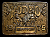 MG30109 USED NFR ***1975 NATIONAL FINALS RODEO*** HESSTON COLLECTOR BUCKLE