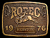 MG30112 GREAT NFR ***1976 NATIONAL FINALS RODEO*** HESSTON COLLECTOR BUCKLE