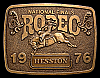 MG30113 GREAT NFR ***1976 NATIONAL FINALS RODEO*** HESSTON COLLECTOR BUCKLE