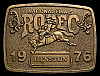 MG30114 GREAT NFR ***1976 NATIONAL FINALS RODEO*** HESSTON COLLECTOR BUCKLE