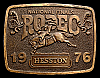 MG30116 GREAT NFR ***1976 NATIONAL FINALS RODEO*** HESSTON COLLECTOR BUCKLE