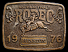MG30117 GREAT NFR ***1976 NATIONAL FINALS RODEO*** HESSTON COLLECTOR BUCKLE