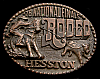 MG30123 USED NFR ***1978 NATIONAL FINALS RODEO*** HESSTON COLLECTOR BUCKLE
