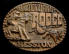 MG30125 USED NFR ***1978 NATIONAL FINALS RODEO*** HESSTON COLLECTOR BUCKLE