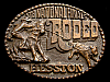 MG30126 USED NFR ***1978 NATIONAL FINALS RODEO*** HESSTON COLLECTOR BUCKLE