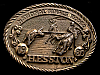 MG30136 USED NFR ***1980 NATIONAL FINALS RODEO*** HESSTON COLLECTOR BUCKLE