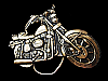 MH29136 VINTAGE 1970s CUT-OUT **MOTORCYCLE** BELT BUCKLE