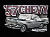 MH31158 VERY COOL VINTAGE 1989 **'57 CHEVY** CAR BELT BUCKLE