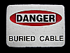 MI01143 VERY COOL 2000 ***DANGER BURIED CABLE*** BELT BUCKLE