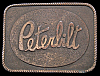 MI04189 GREAT VINTAGE 1970s **PETERBILT** TRUCKS LOGO RECTANGLE BRASSTONE BUCKLE