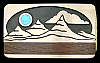 MI10131 GREAT 1980s KENNETH REID ***MOON OVER MOUNTAIN*** WOOD  & STONE BUCKLE