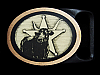 MI13161 *NOS* VINTAGE 1981 TECH-ETHER GUILD **BULL** SOLID BRASS ART BELT BUCKLE