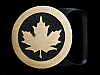 MI13170 *NOS* VINTAGE 1978 *MAPLE LEAF* TECH-ETHER GUILD SOLID BRASS BUCKLE