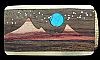 MI10154 *NOS* VINTAGE 1970s *KENNETH REID* MOONLIT MOUNTAIN SCENE ARTWORK BUCKLE
