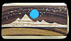 MI10155 *NOS* VINTAGE 1970s *KENNETH REID* MOONLIT MOUNTAIN SCENE ARTWORK BUCKLE