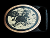 MI19175 *NOS* VINTAGE 1981 TECH-ETHER **RAM** BIG HORN SHEEP SOLID BRASS BUCKLE