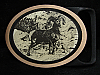 MI25150 *NOS* VINTAGE 1970s TECH-ETHER GUILD **RAM** SOLID BRASS ART BELT BUCKLE