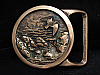 MI25162 *NOS* VINTAGE 1975 *SEASCAPE I* TECH-ETHER GUILD SOLID BRASS BELT BUCKLE