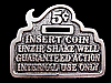 MJ01104 VINTAGE 1979 **INSERT COIN, UNZIP, SHAKE WELL** FUNNY BELT BUCKLE