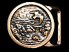 MJ01174 *NOS* VINTAGE 1975 TECH-ETHER **SEASCAPE I** SOLID BRASS ART BUCKLE