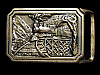MJ03163 VINTAGE 1975 TECH-ETHER GUILD **T.E. EXPRESS** SOLID BRASS BELT BUCKLE
