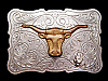 MJ05117 VINTAGE 1970s **CATTLE HEAD** WESTERN & COWBOY BELT BUCKLE