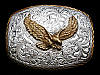 MJ15129 VINTAGE 1970s **BALD EAGLE** WESTERN & COWBOY CRUMRINE BELT BUCKLE