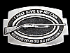MJ17119 VINTAGE 1979 **I WILL GIVE UP MY GUN WHEN...** BELT BUCKLE