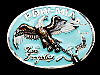 MJ19106 VINTAGE 1986 **POW-MIA NOT FORGOTTEN** MILITARY BELT BUCKLE