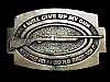MJ21109 VINTAGE 1979 **I WILL GIVE UP MY GUN WHEN...** BELT BUCKLE