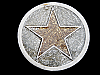 MJ25105 VERY COOL **FIVE POINT STAR** GLITTER FASHION BELT BUCKLE