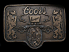 MJ25122 VINTAGE 1970s **COORS BANQUET BEER** BELT BUCKLE