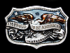 NA01115 VINTAGE 1984 **I'M PROUD TO BE AMERICAN** PATRIOTIC BELT BUCKLE