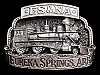NA01152 *NOS* VINTAGE 1970s **ES&NA EUREKA SPRINGS, ARK.** RAILROAD BELT BUCKLE