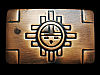 NA05149 VINTAGE 1970s **SUN GOD** SOUTHWESTERN DESIGN BELT BUCKLE