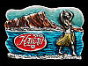 NA09163 VINTAGE 1979 **HAWAII (HULA GIRL)** SOUVENIR BELT BUCKLE